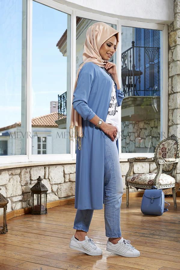 Mevra - Açelya Tunik Mavi