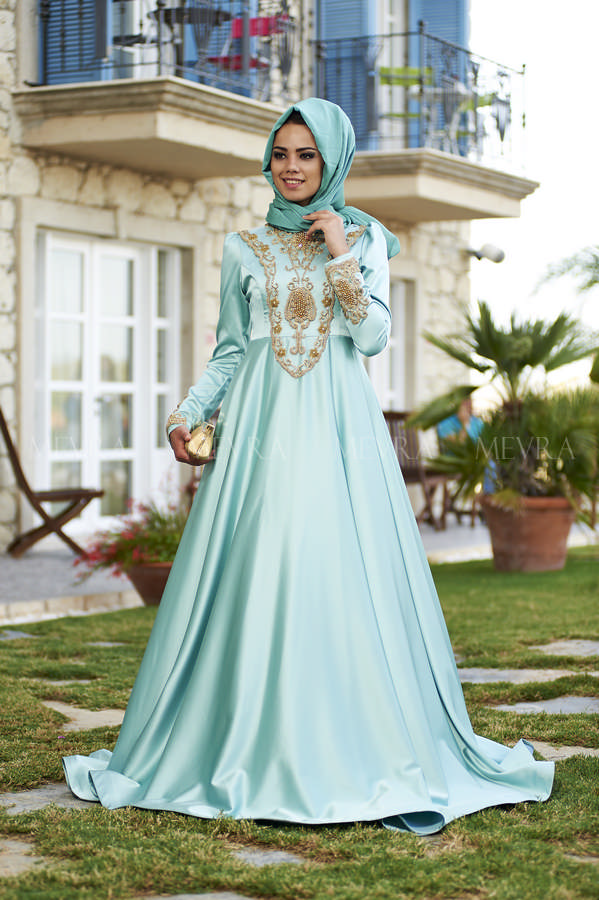 Mevra Abiye - Aysima Abiye Elbise Mint