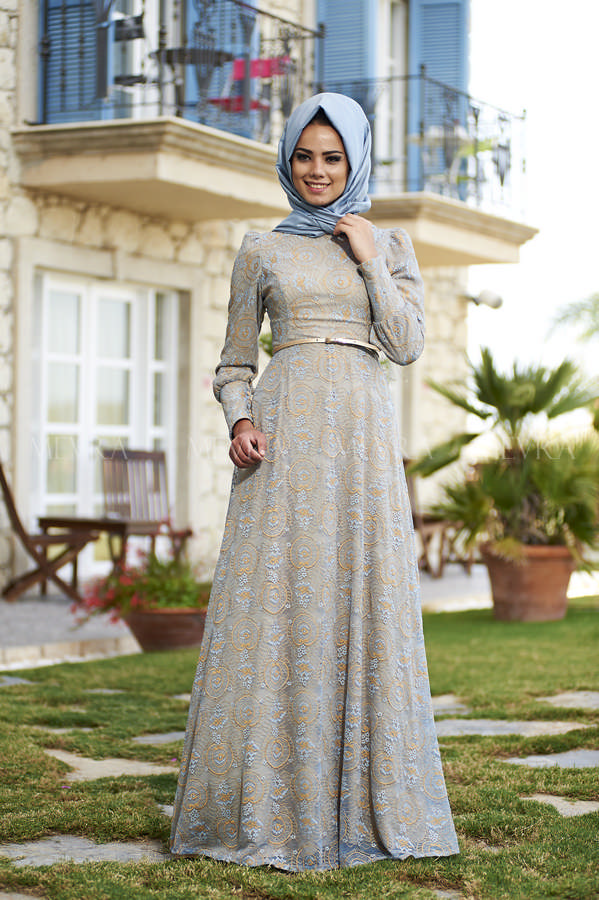 Mevra - Figen Elbise Mavi