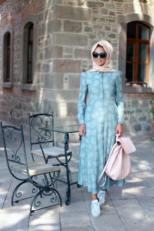 Mevra - Misley Elbise Mavi