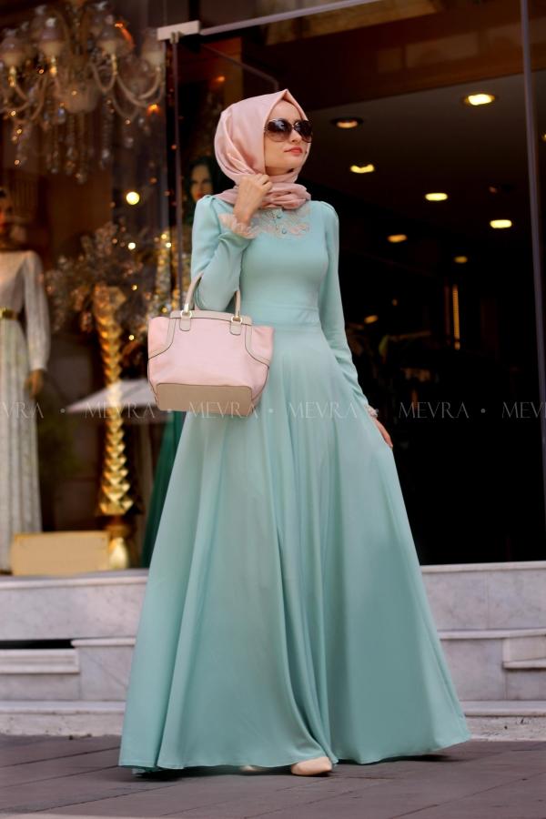 Mevra - Sinetra Mint Elbise