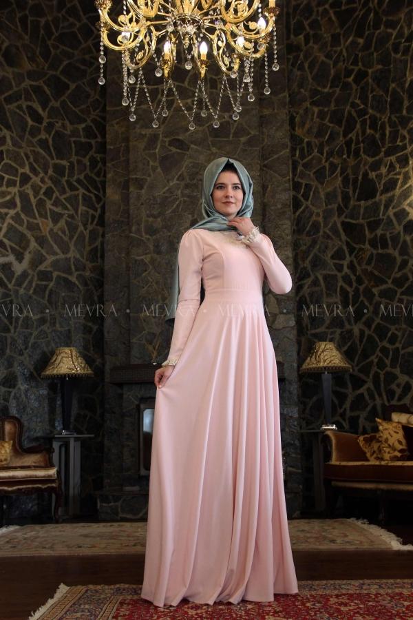 Mevra - Sinetra Pudra Elbise