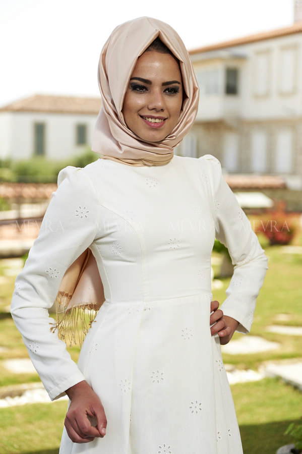 Mevra - Yasmin Elbise Ekru