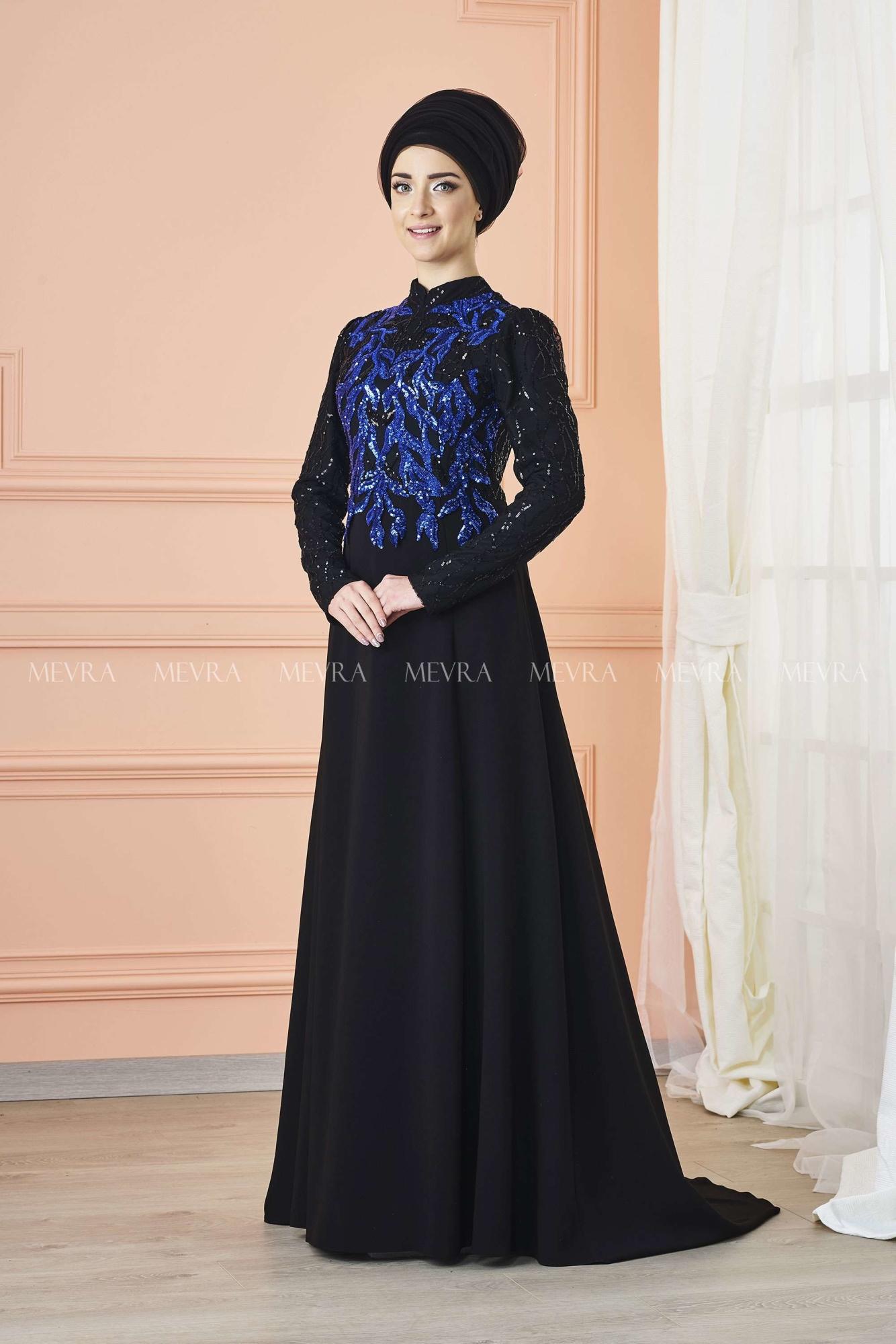 Mevra - Anka Abiye Elbise Saks