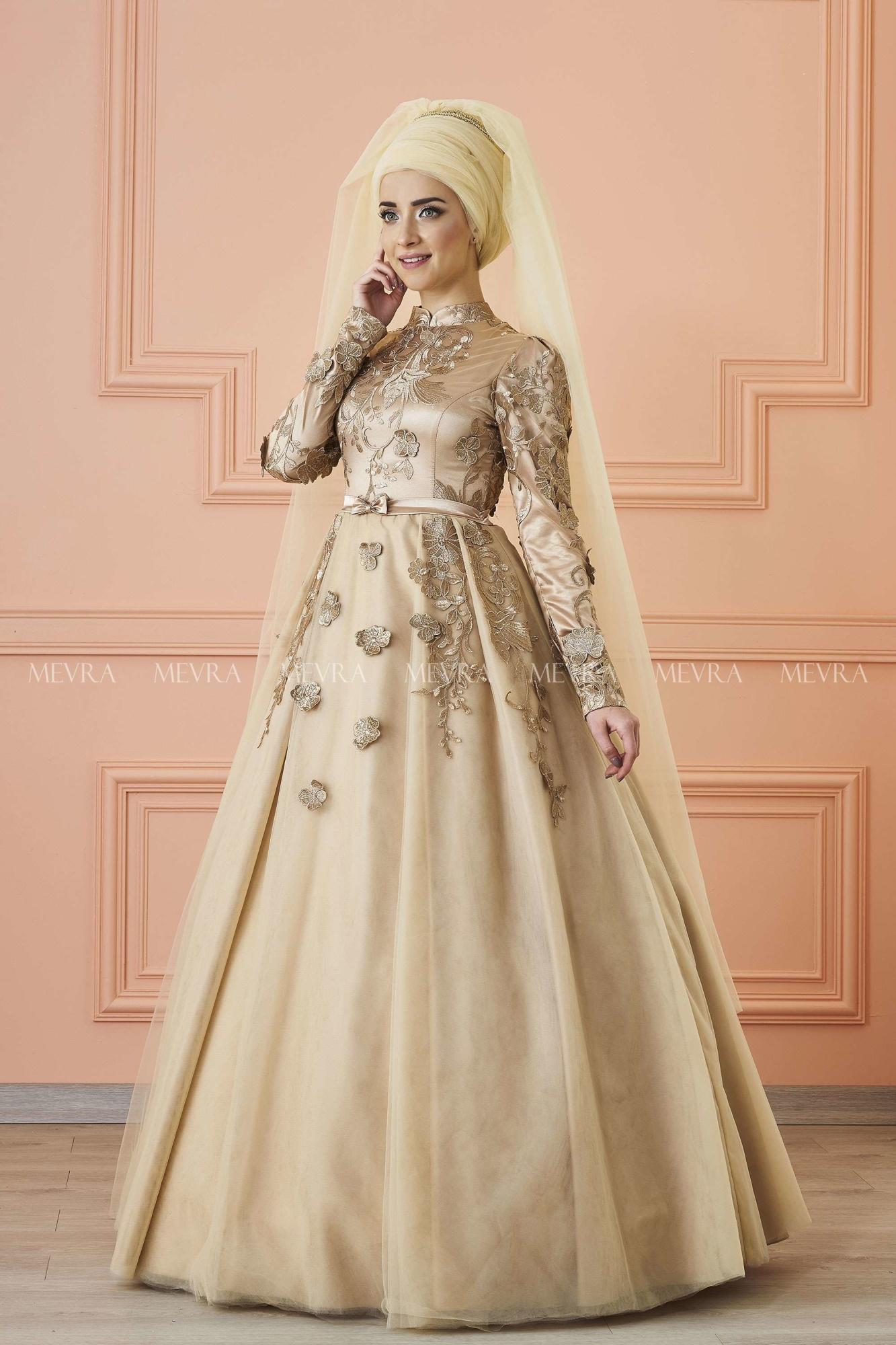 Mevra - Balca Abiye Elbise Gold