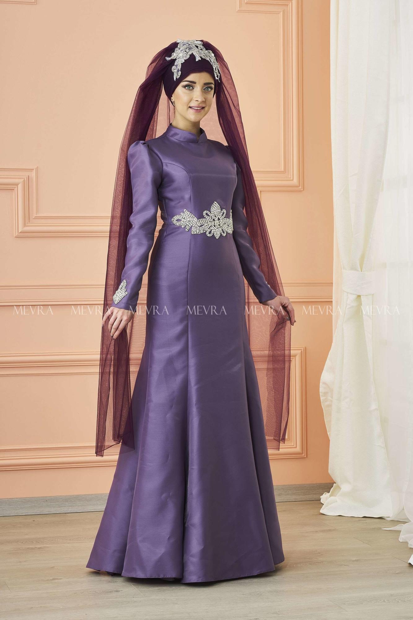 Mevra - Berra Abiye Elbise Lila