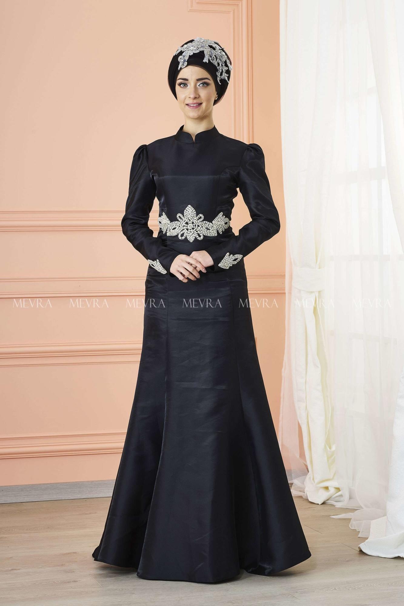 Mevra - Berra Abiye Elbise Siyah