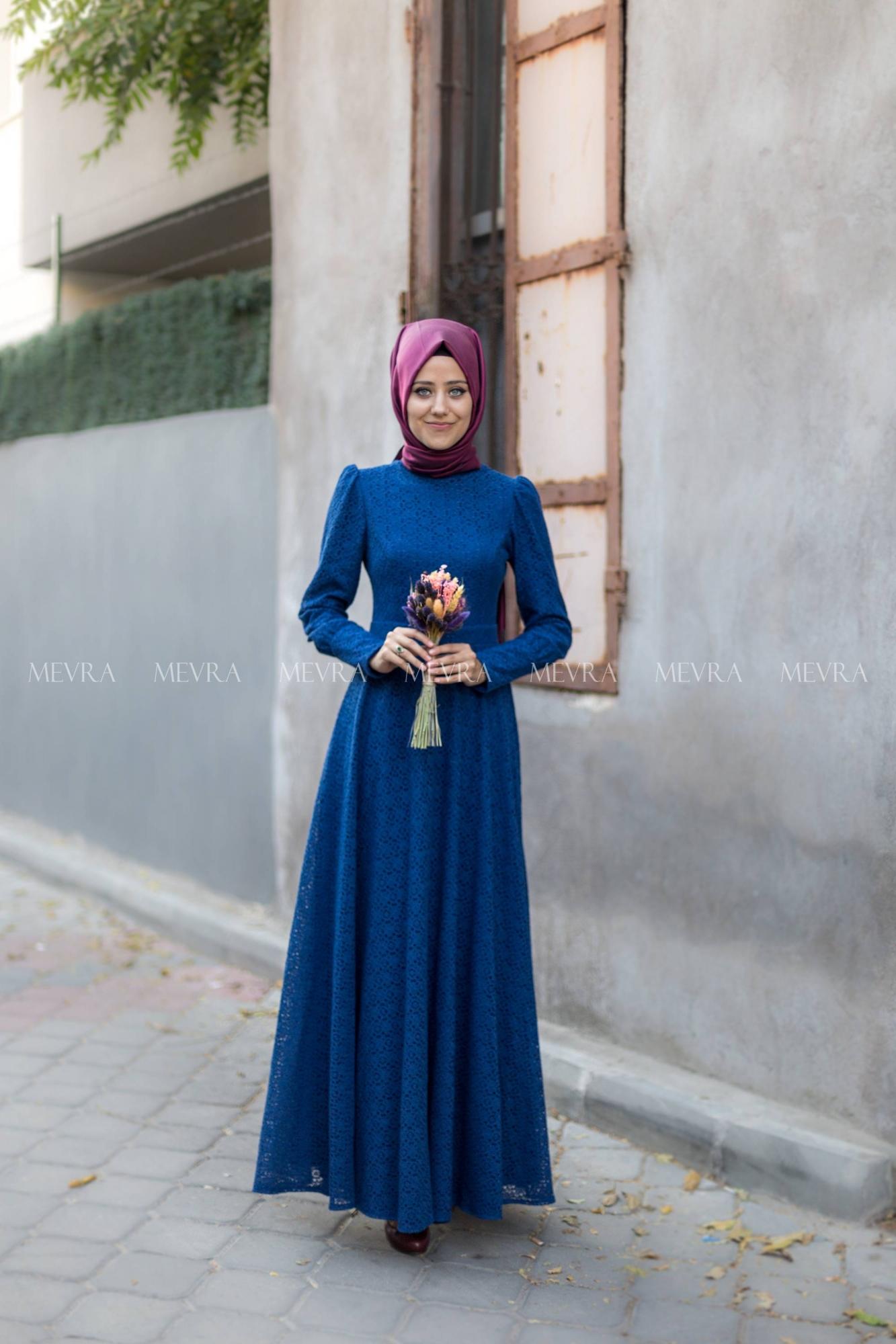 Mevra - Dina Elbise İndigo