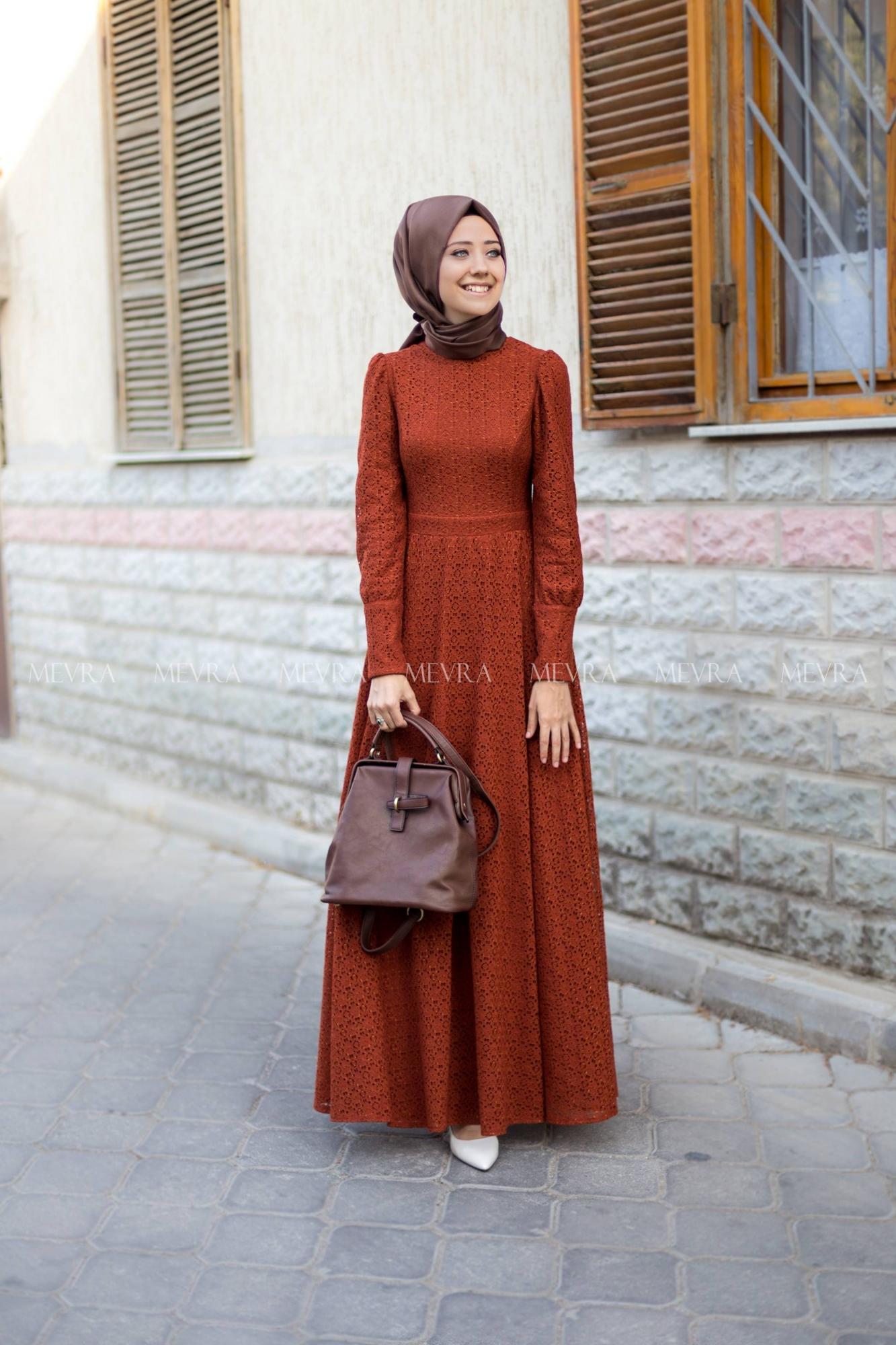 Mevra - Dina Elbise Kiremit