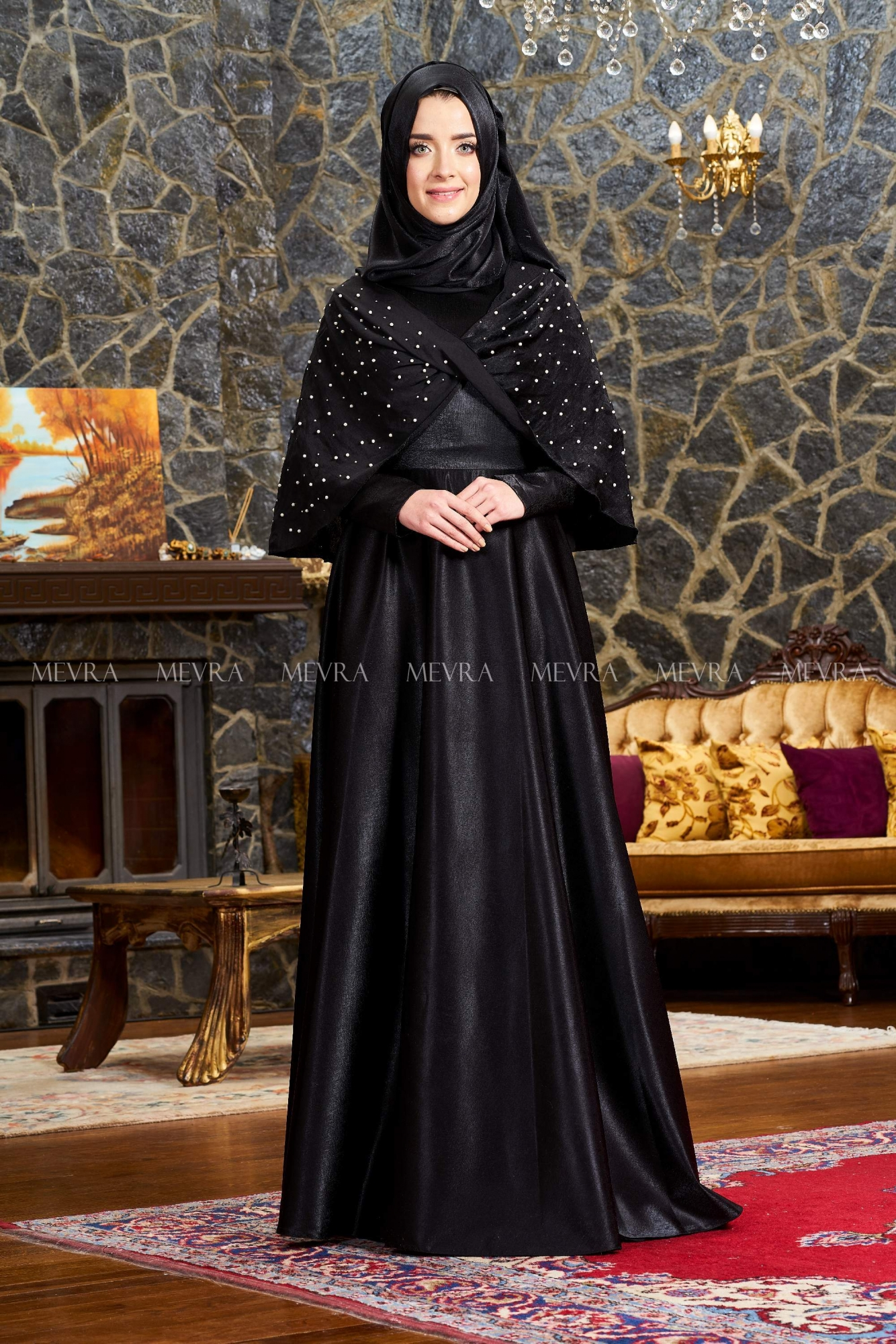 Mevra - Elsa Abiye Elbise Siyah
