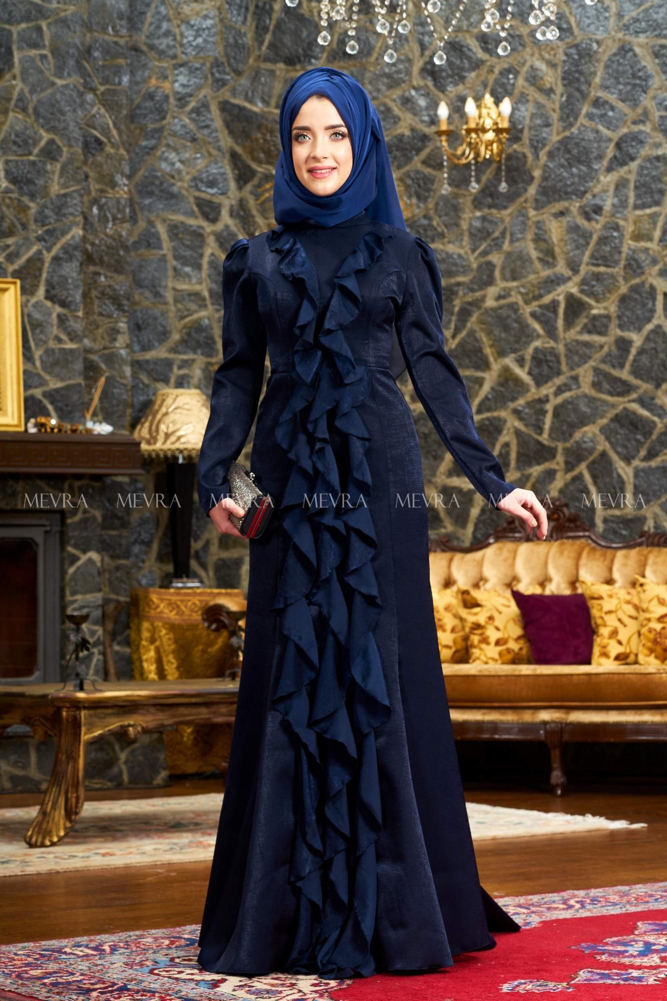 Mevra - Esmeralda Abiye Elbise Lacivert
