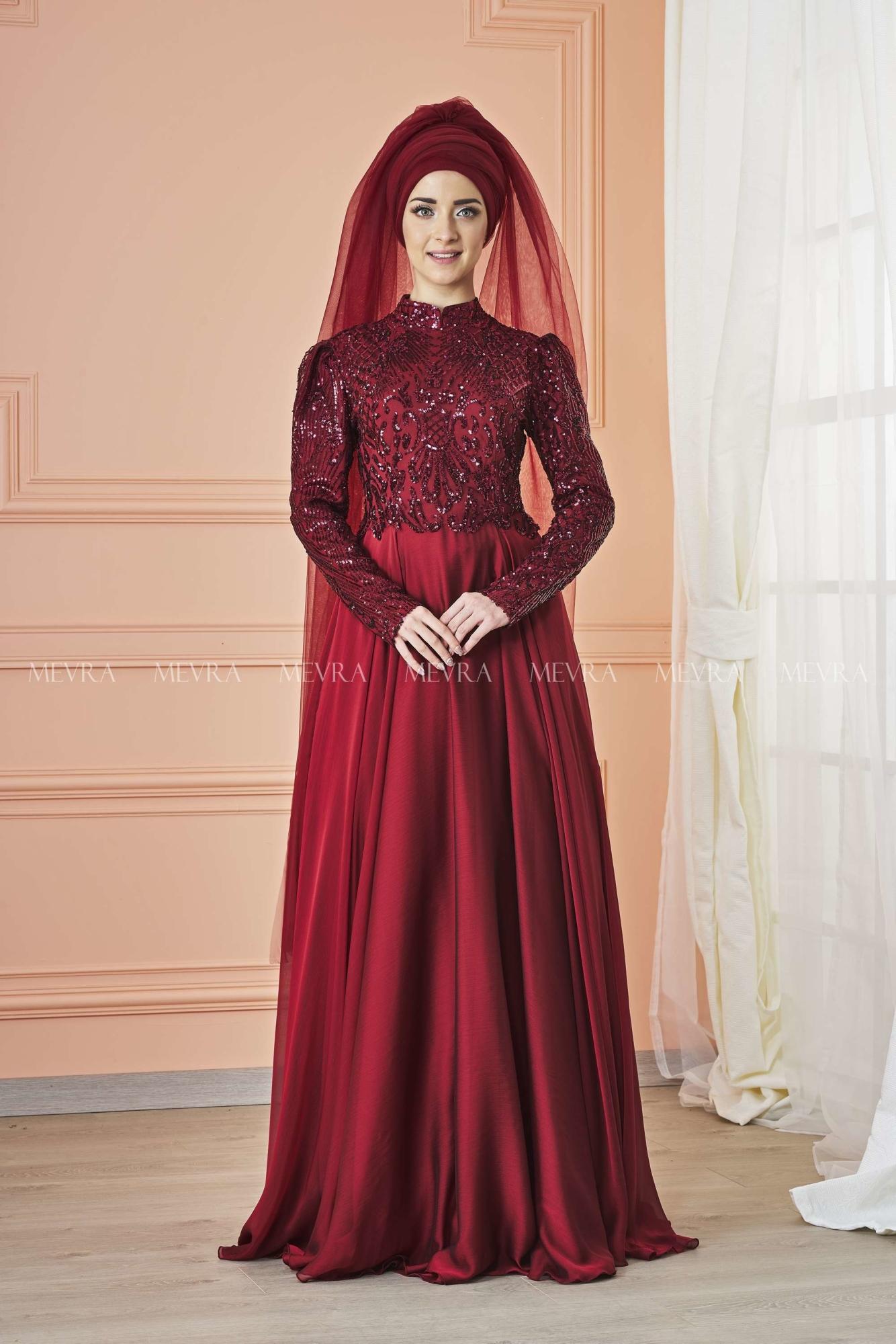Mevra - Eyşan Abiye Elbise Bordo