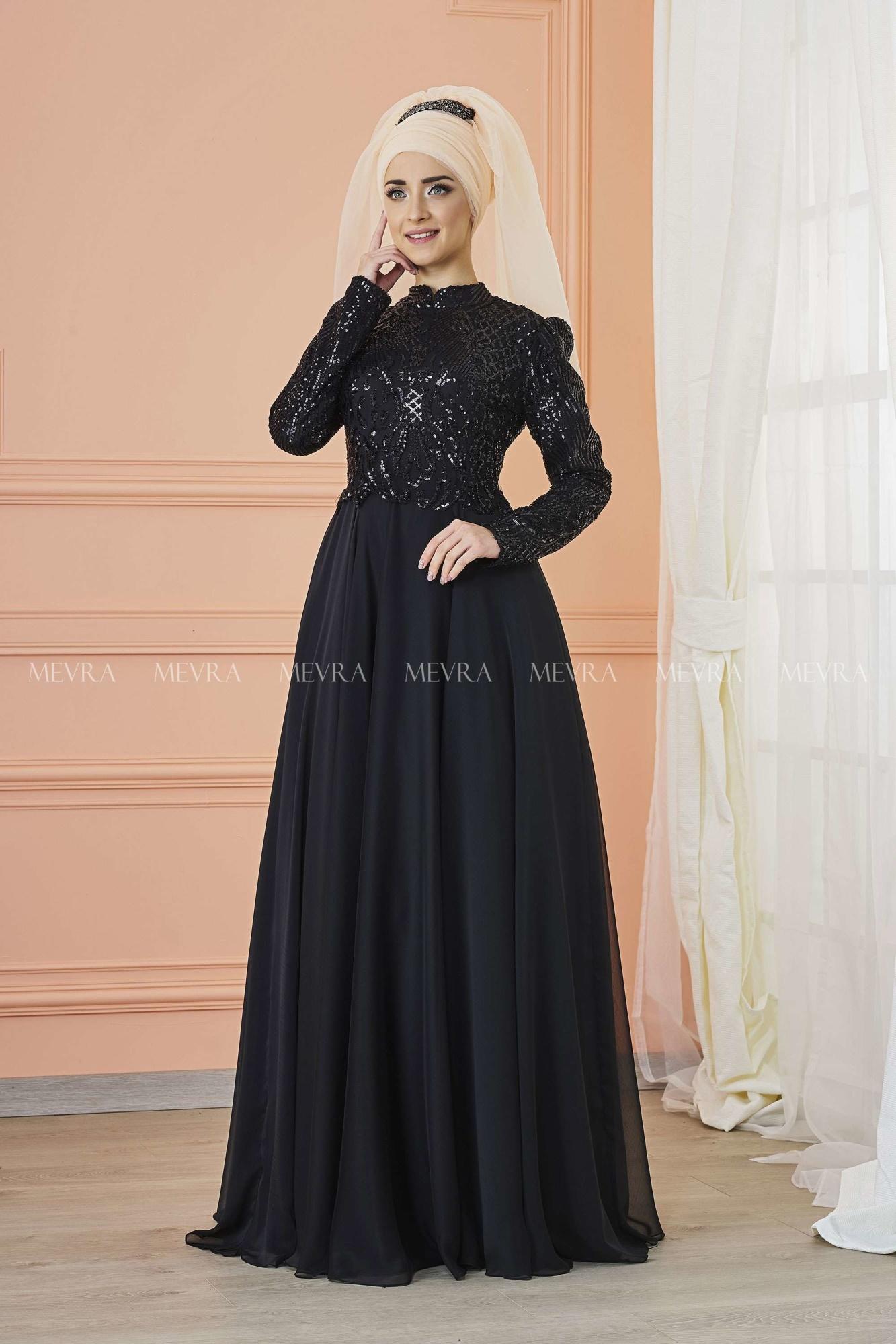 Mevra - Eyşan Abiye Elbise Siyah