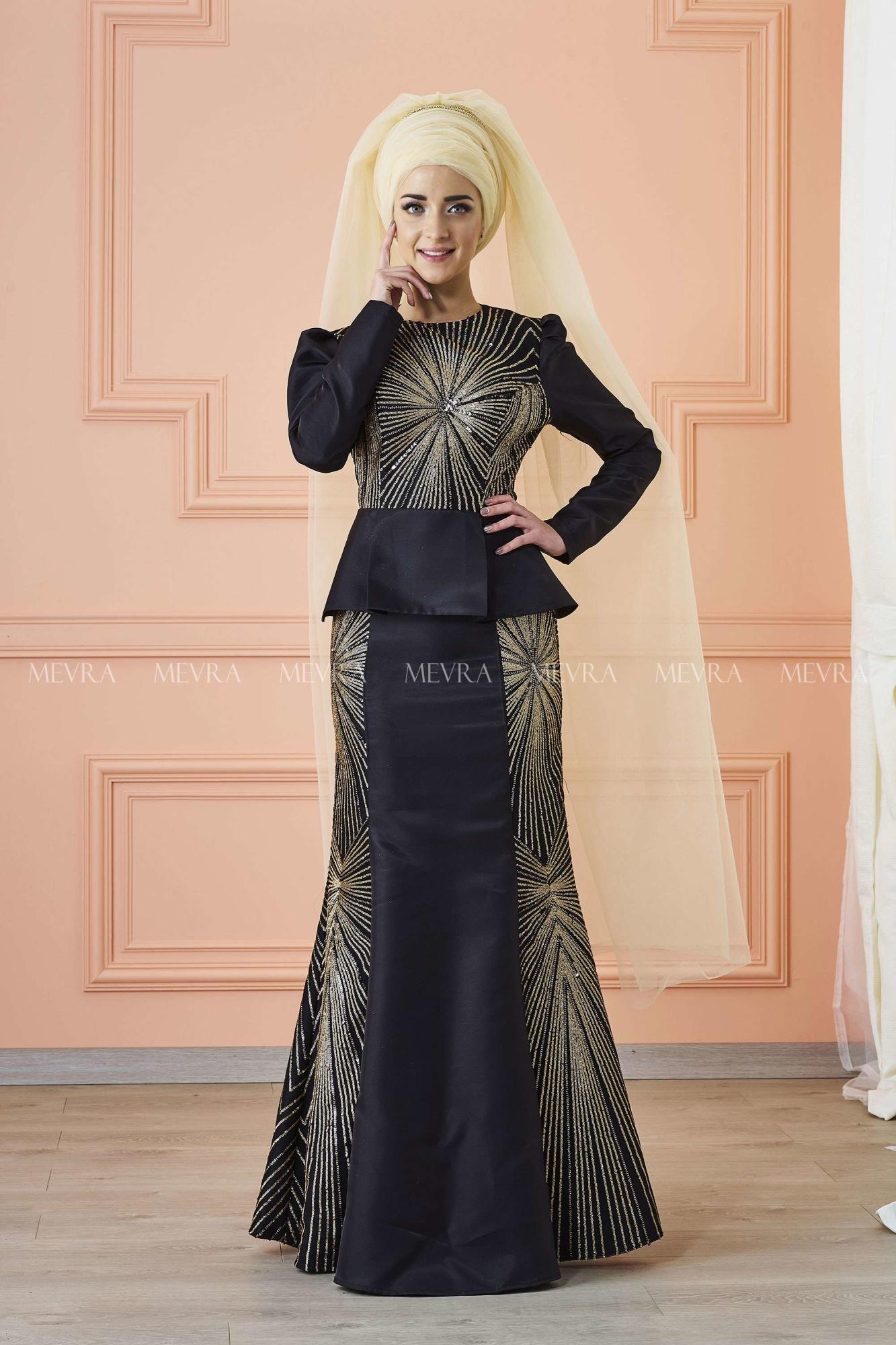 Mevra - Günaşk Abiye Elbise Siyah