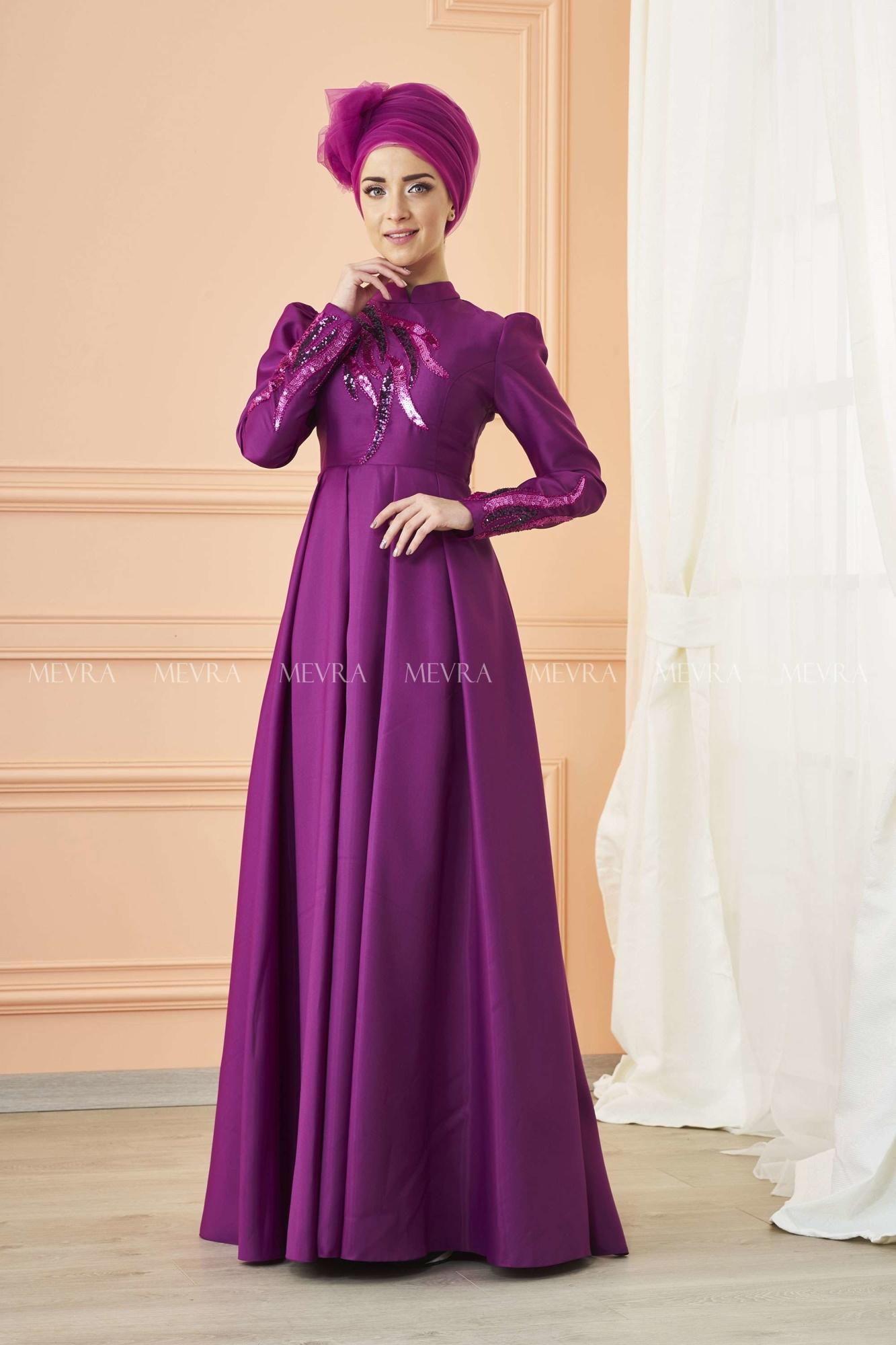 Mevra - Kavin Abiye Elbise Fuşya