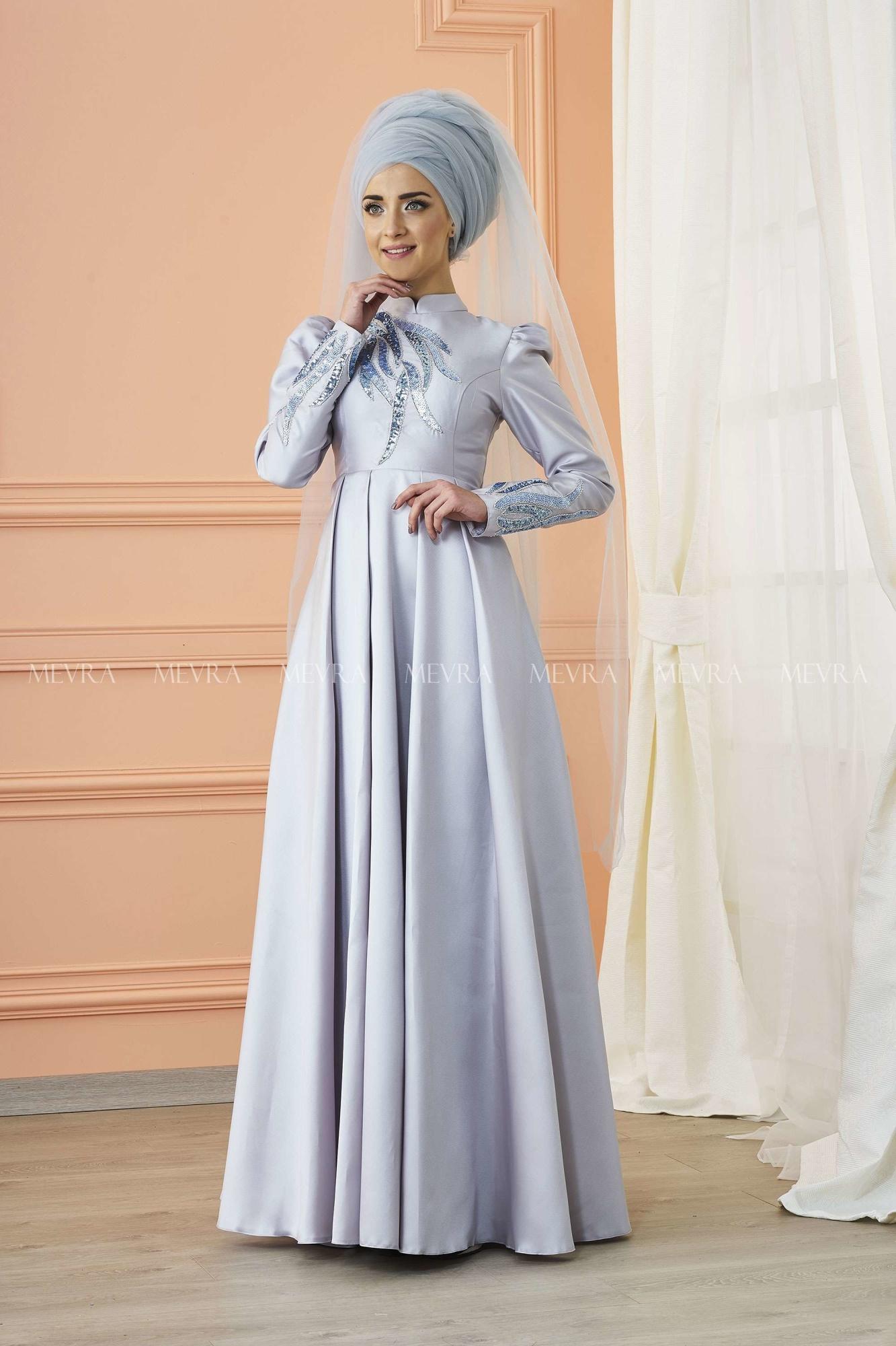 Mevra - Kavin Abiye Elbise Gri