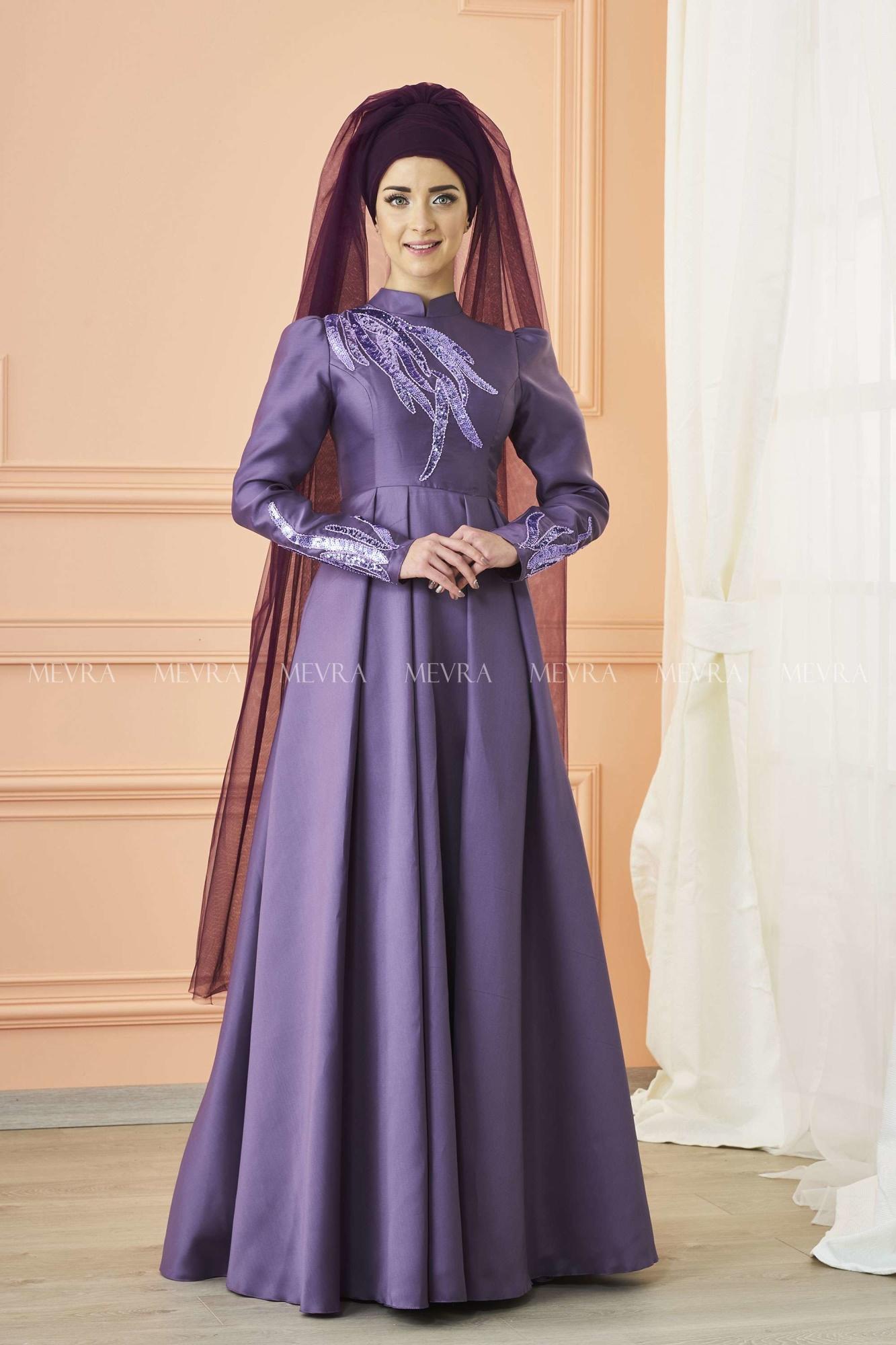Mevra - Kavin Abiye Elbise Lila