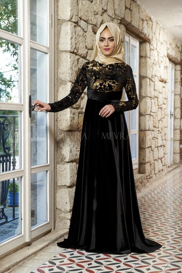 Mevra - Laura Abiye Elbise Siyah