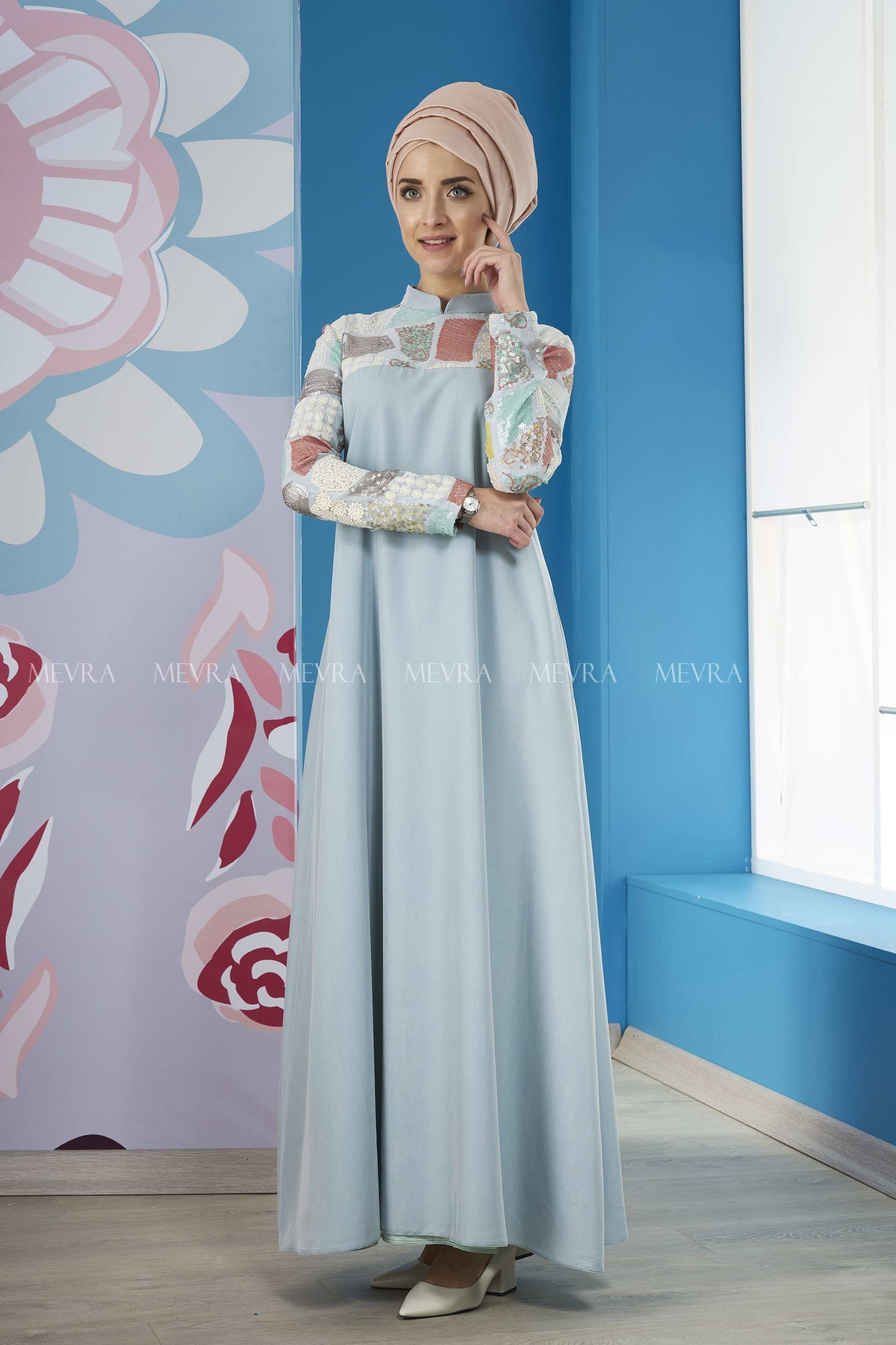 Mevra - Marin Elbise Mint