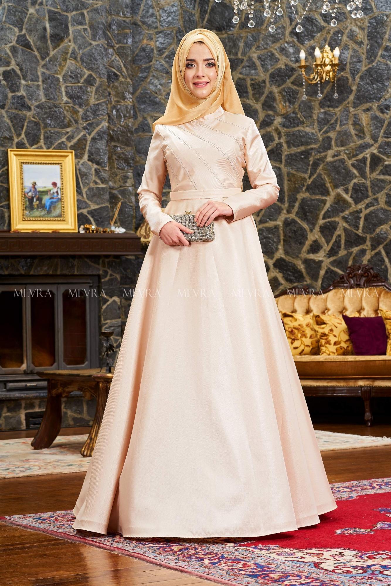 Mevra - Uyum Abiye Elbise Gold