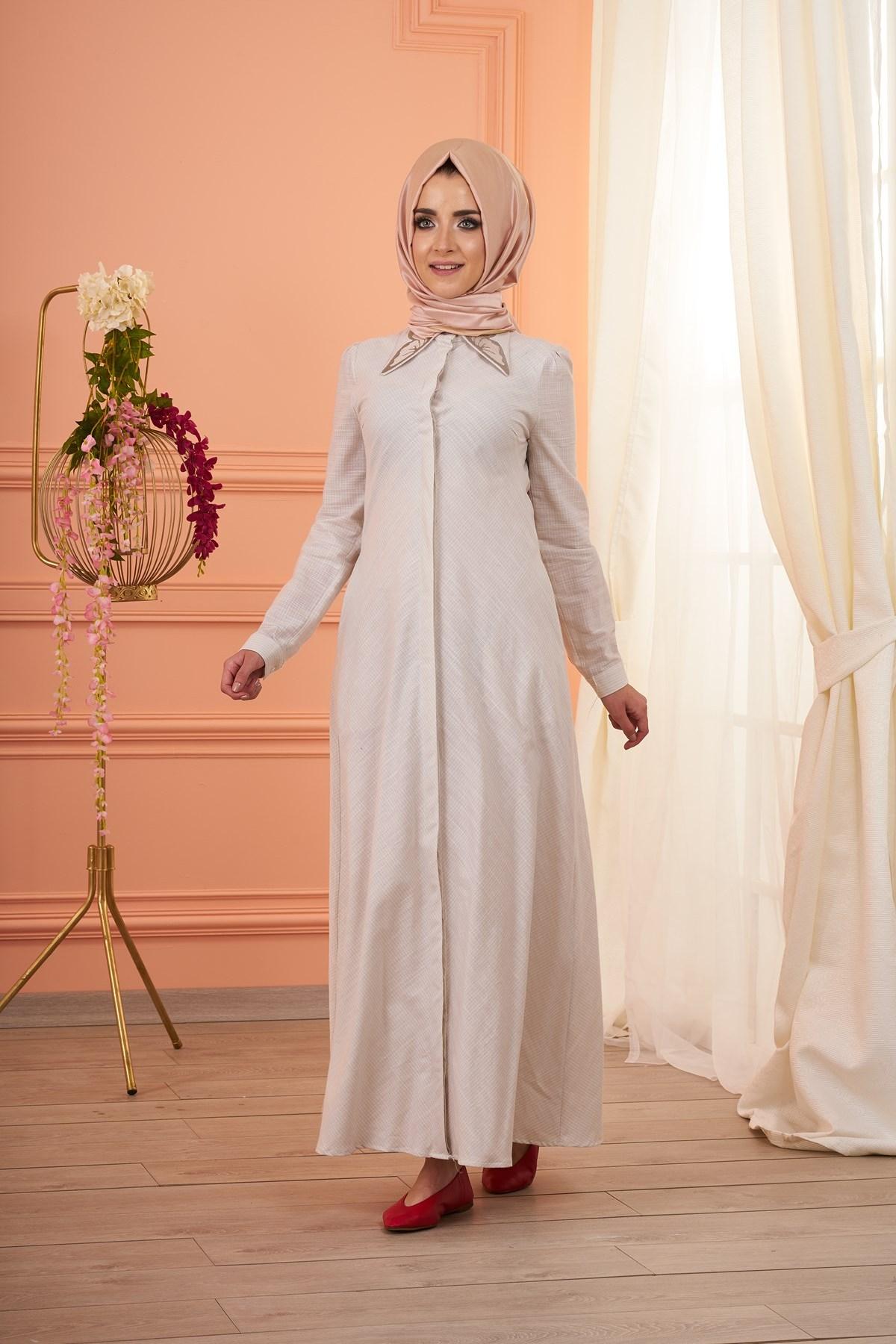 Mevra - Anika Elbise Bej