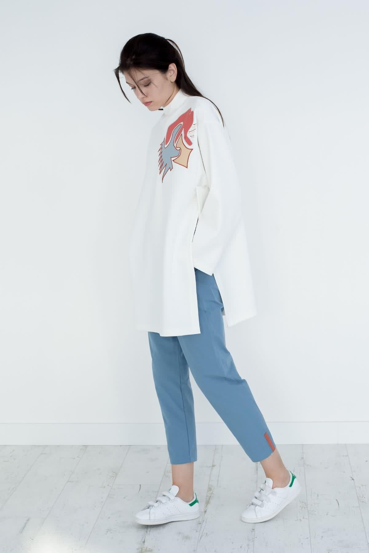 Mevra - Beli Lastikli Pantolon Mavi