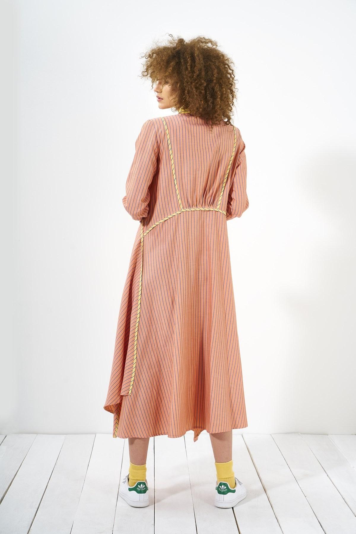 Mevra - Biyeli Elbise Nar