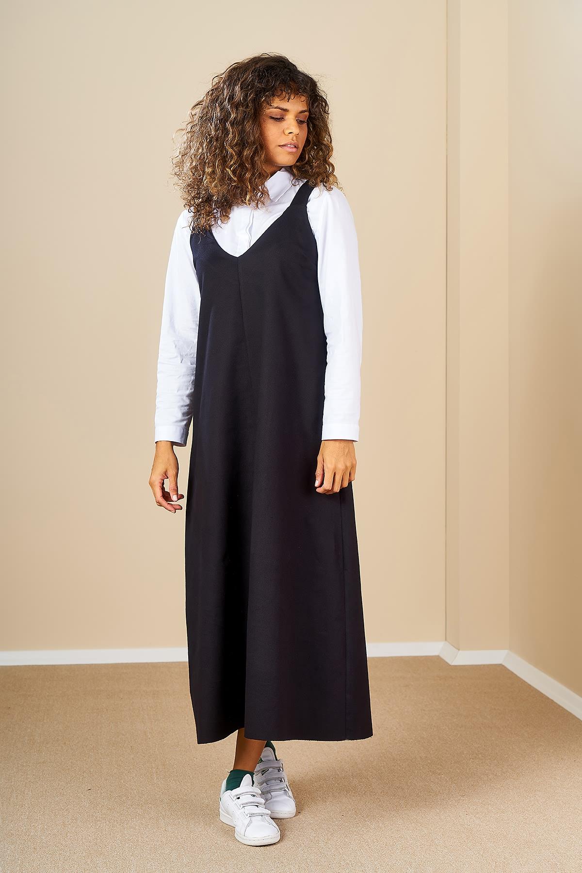 Mevra - Aybükco Jile Elbise Siyah
