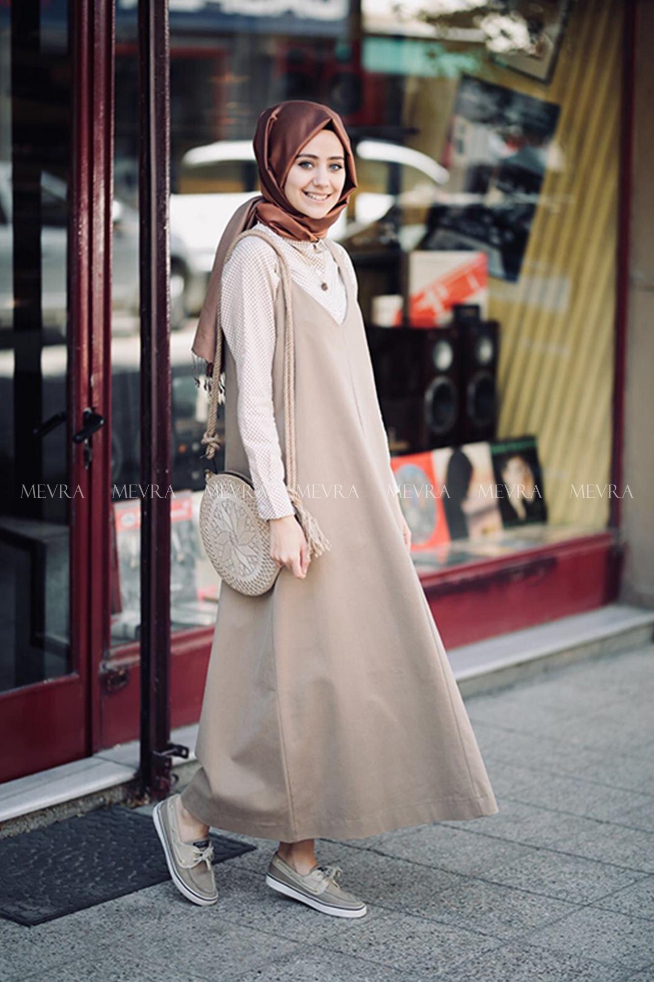 Mevra - Aybükco Jile Elbise Bej