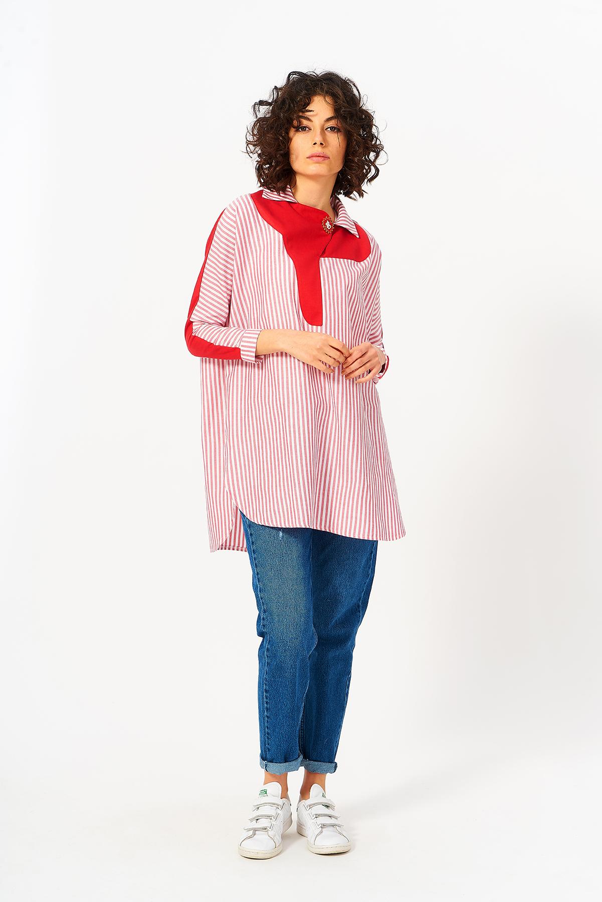 Mevra - Cool Tunik Kırmızı