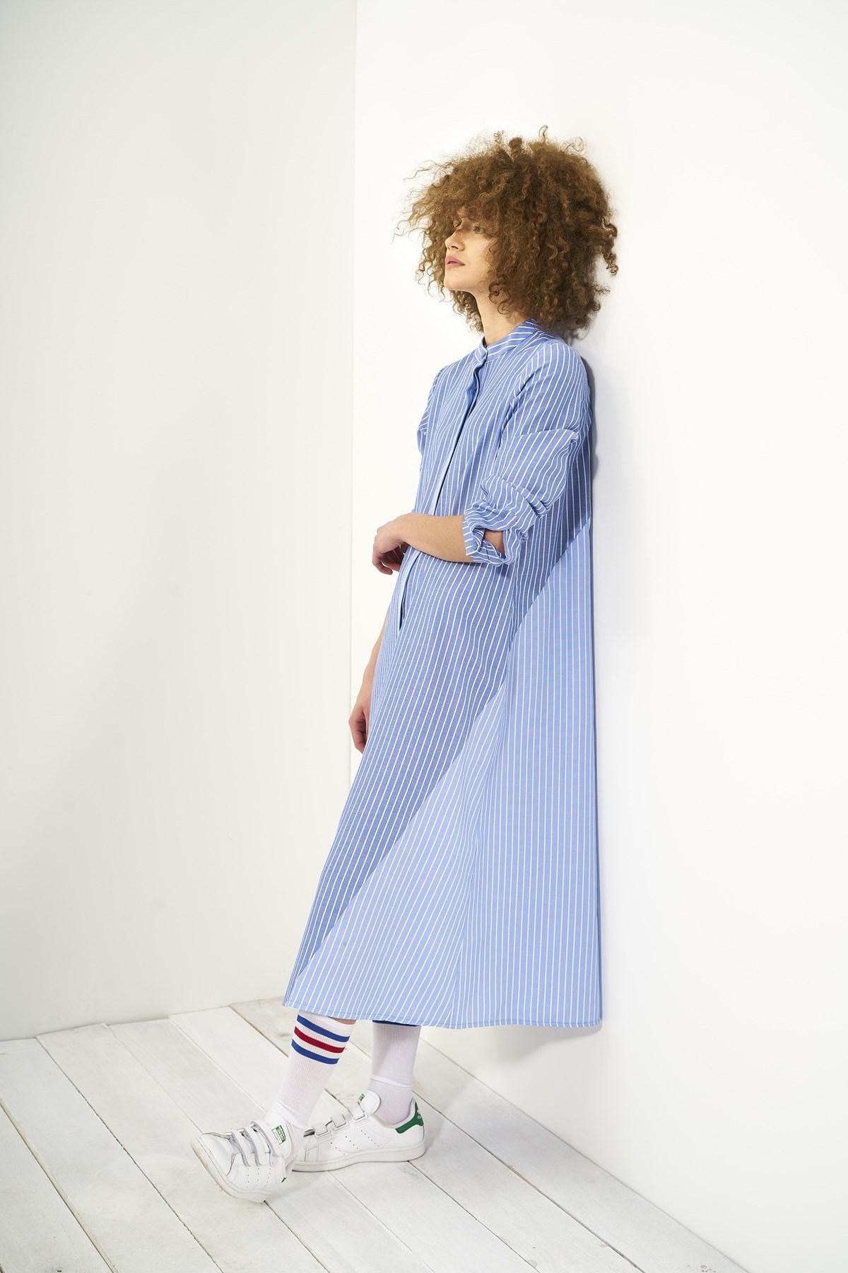 Mevra - İki Renk Elbise