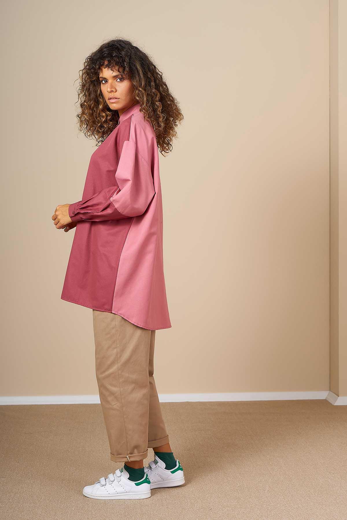 Mevra - İki Renk Tunik Gülkurusu