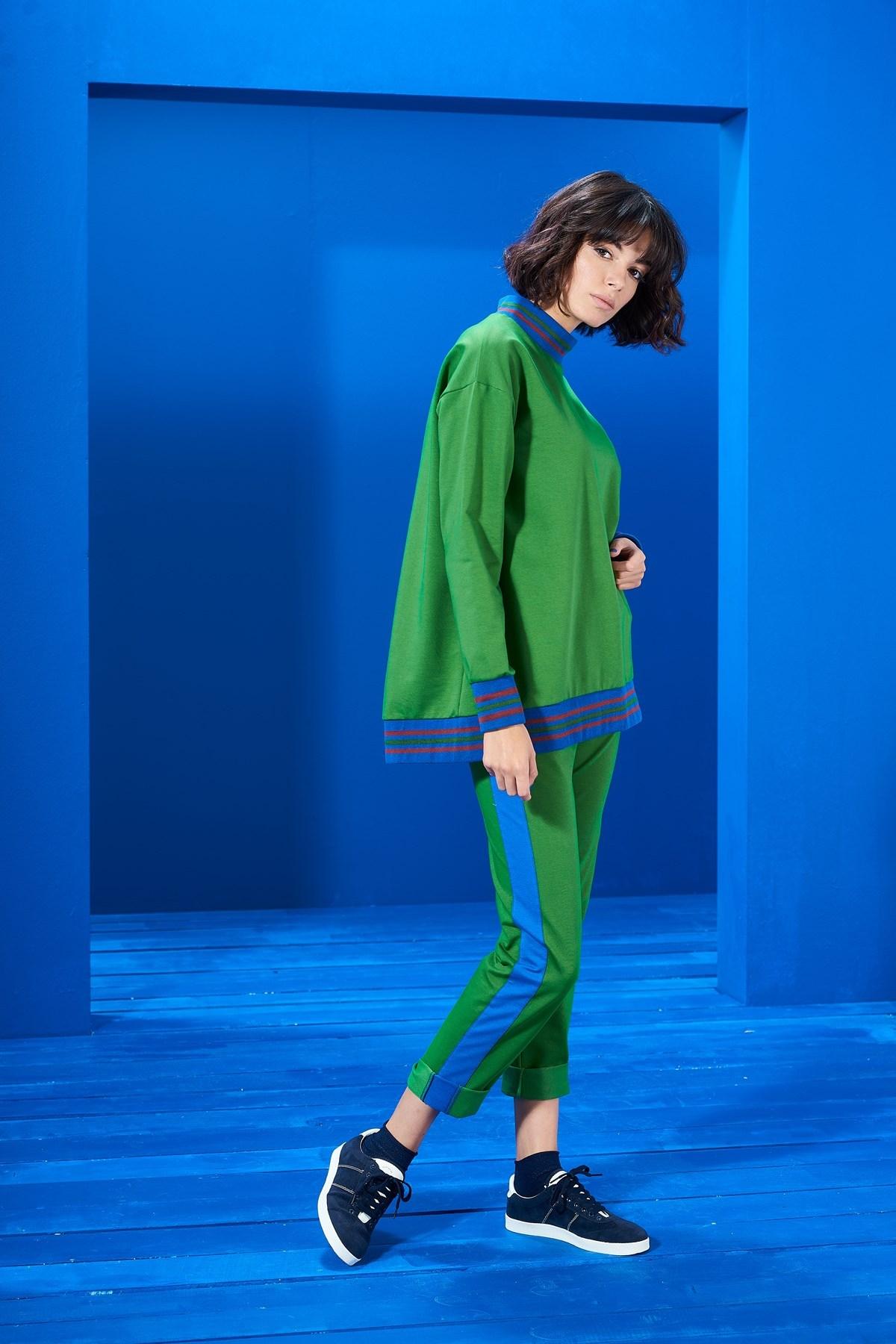 Mevra - İnterest Sweatshirt Yeşil