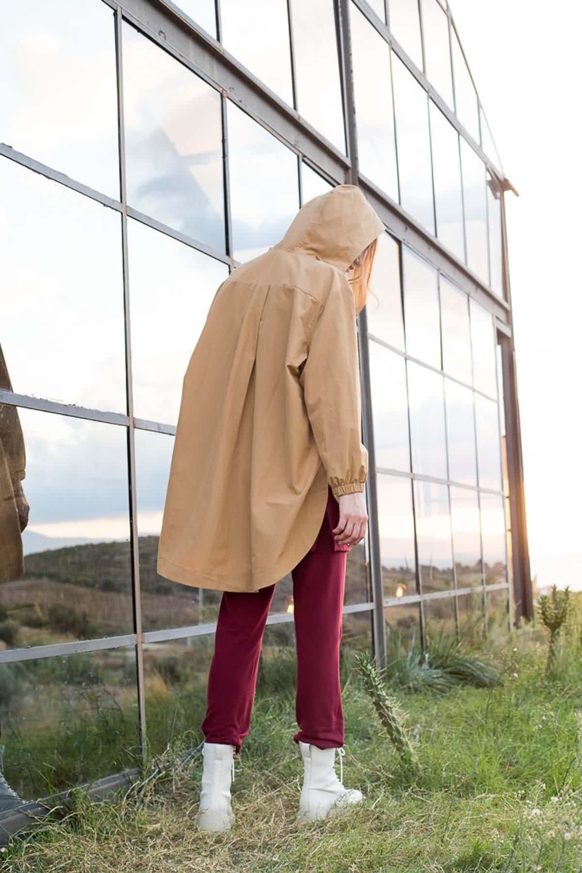 Mevra - Kapüşonlu Ceket Camel
