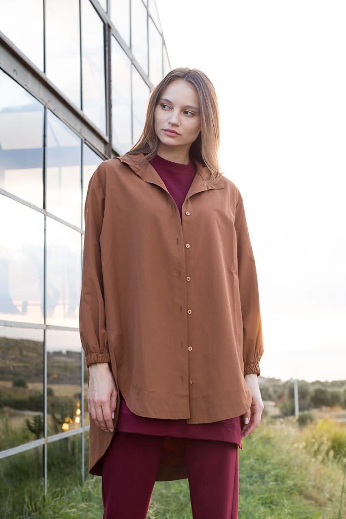 Mevra - Kapüşonlu Ceket Mocha