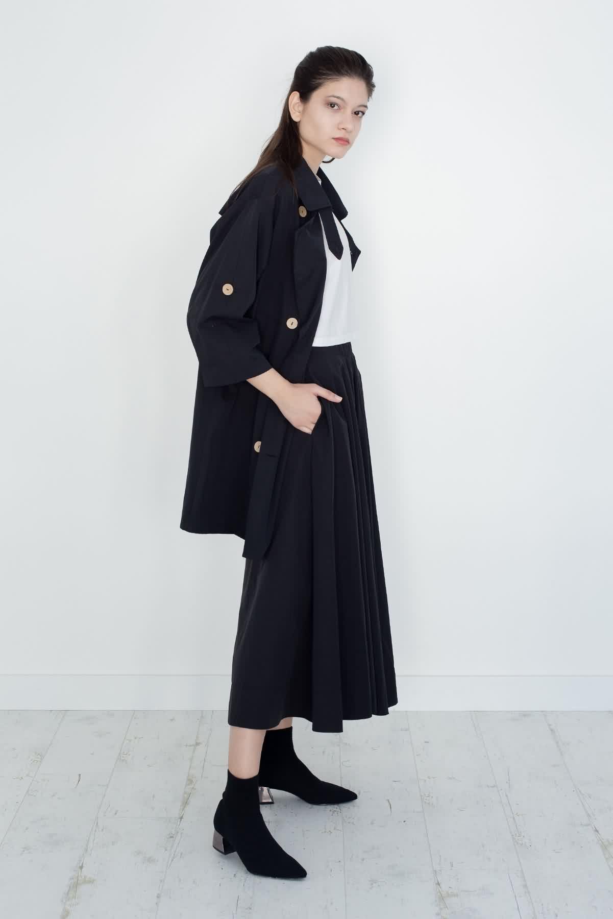 Mevra - Kısa Trenchoat Siyah
