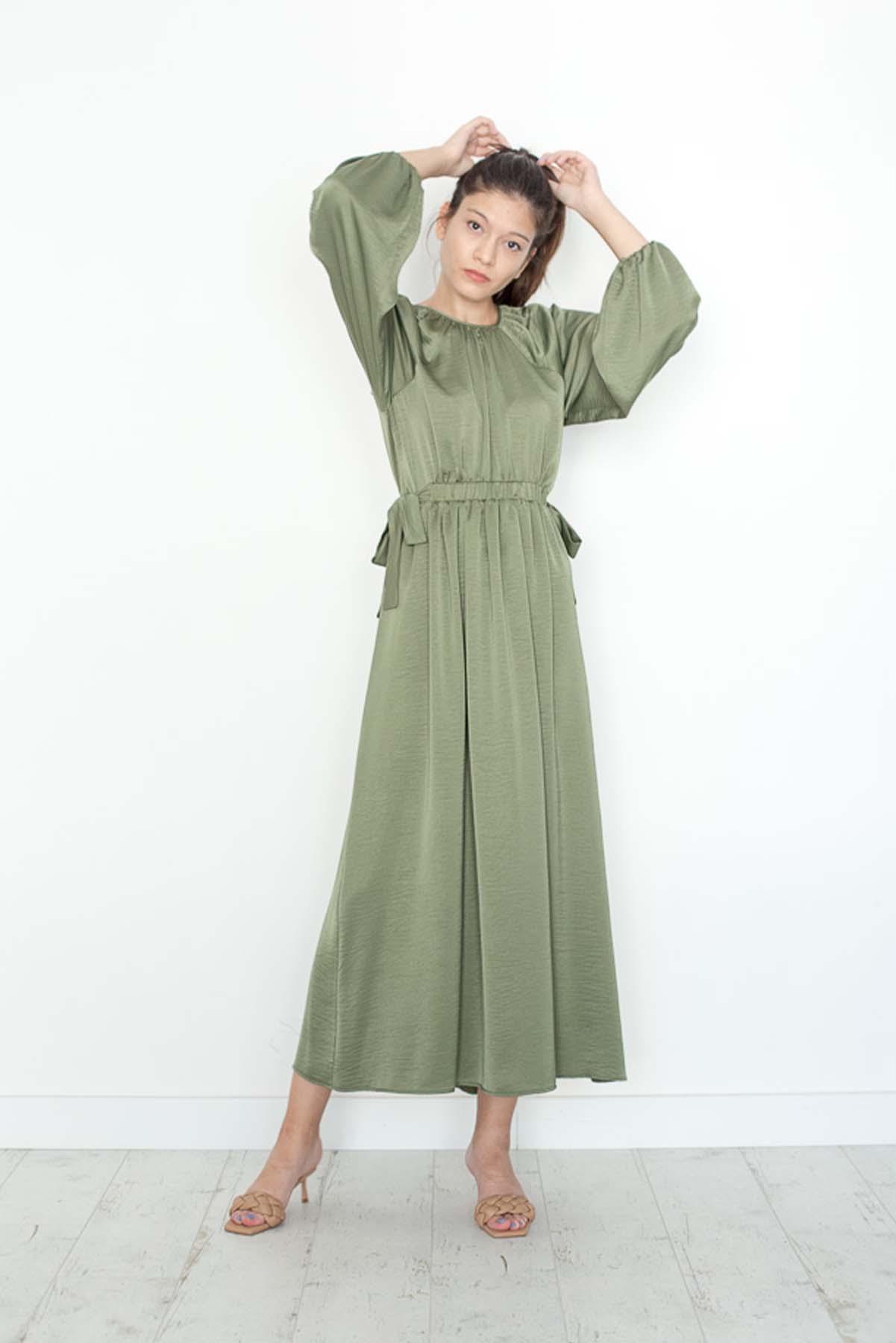 Mevra - Kuşaklı Elbise Haki
