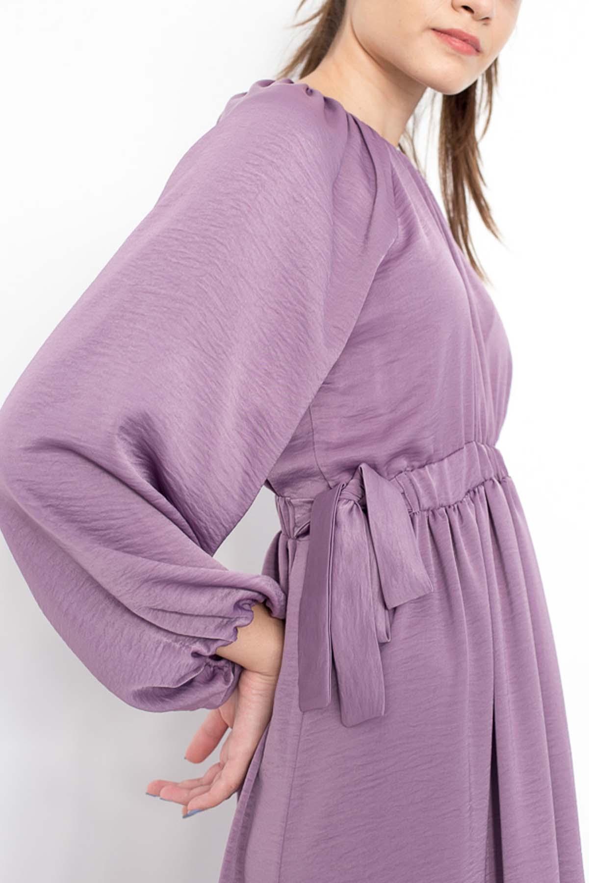Mevra - Kuşaklı Elbise Lavantaa