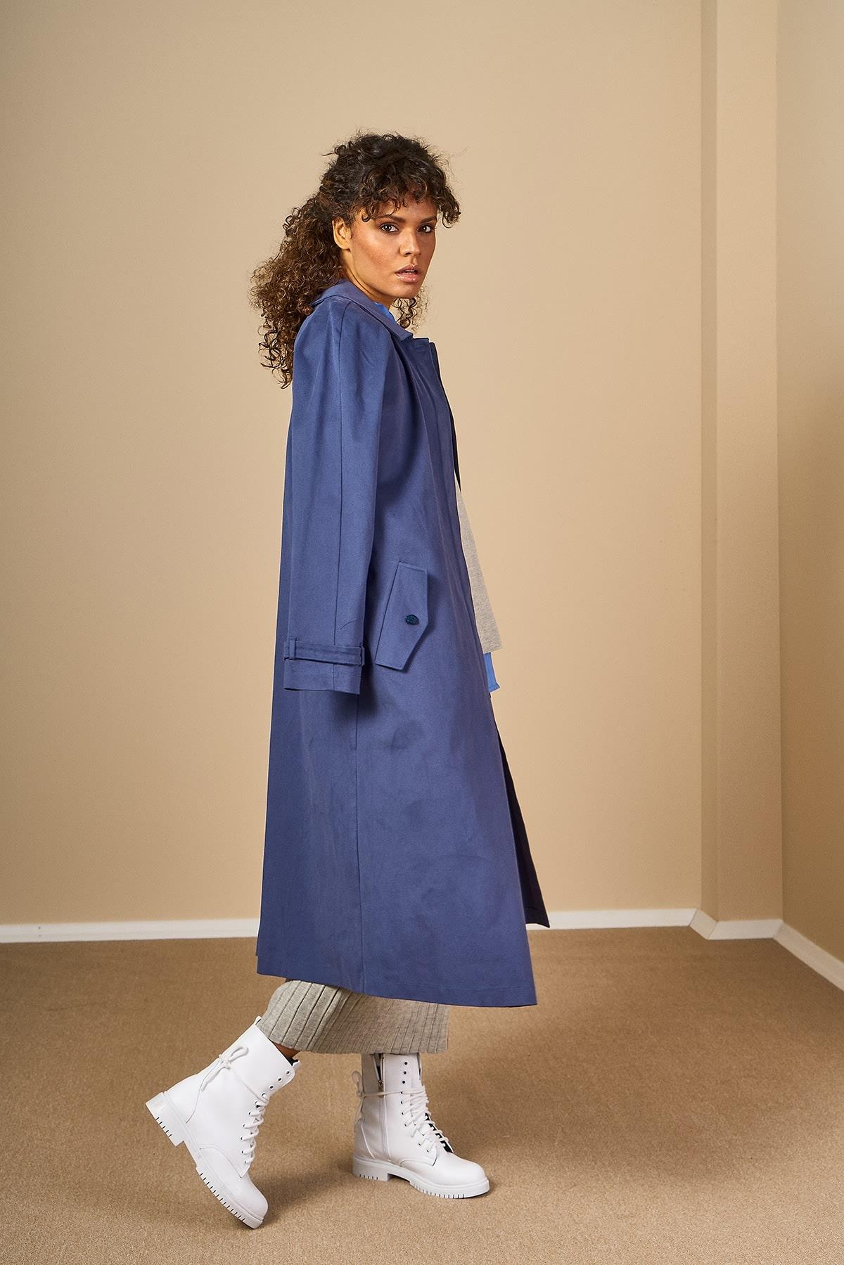Mevra - Oversize Ceket İndigo