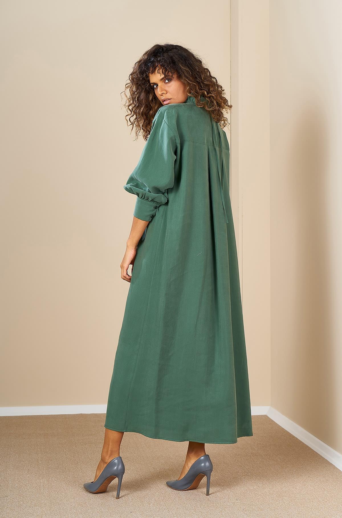 Mevra - Oversize Elbise Haki