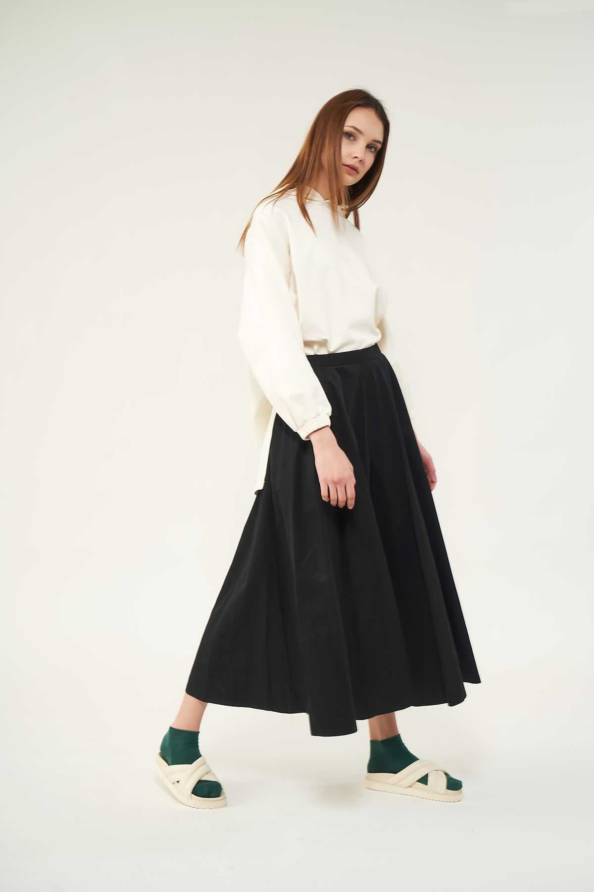 Mevra - Pantolon Etek Siyah