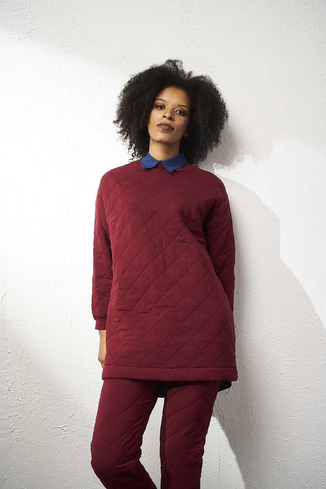 Mevra - Puf Sweatshirt Bordo