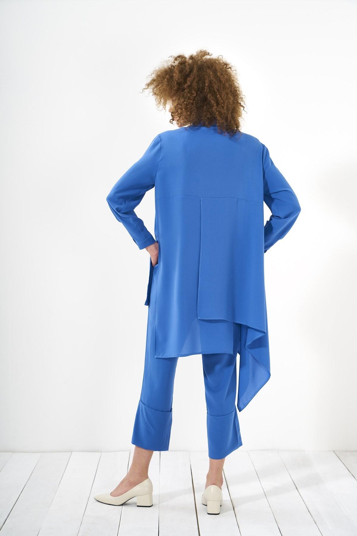 Mevra - Puzzle Tunik Mavi