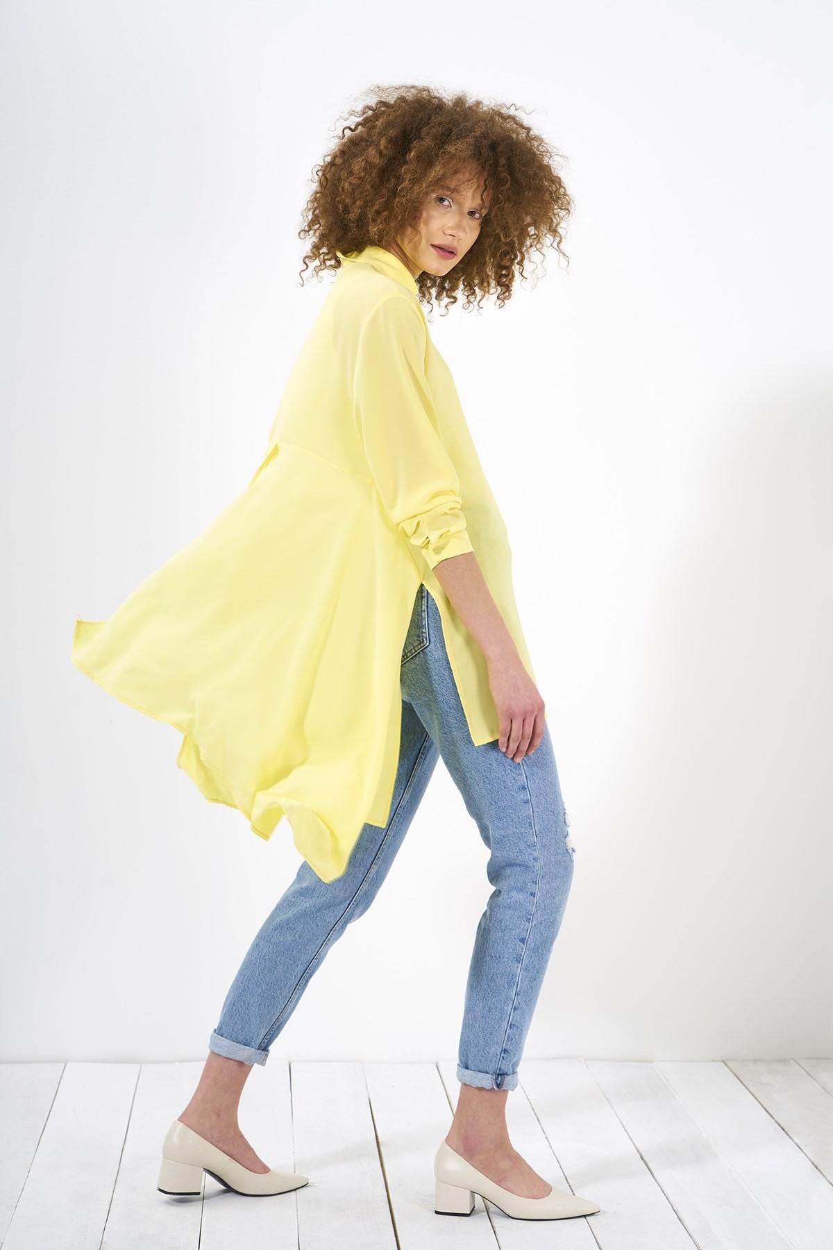 Mevra - Puzzle Tunik Sarı