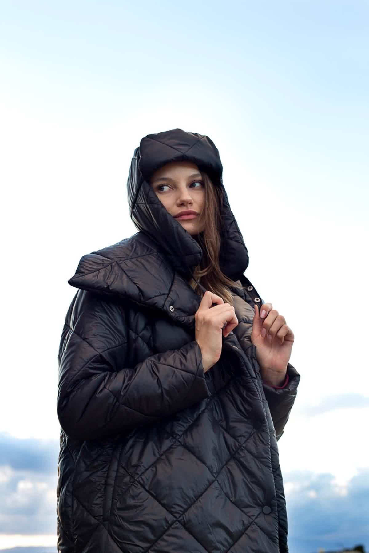 Mevra - Şişme Mont Siyah