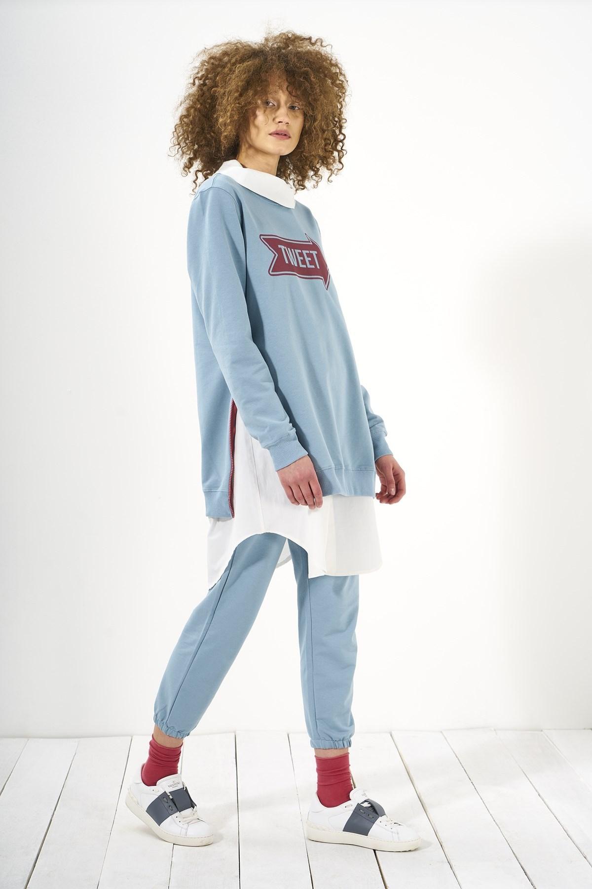 Mevra - Sweatshirt Mavi