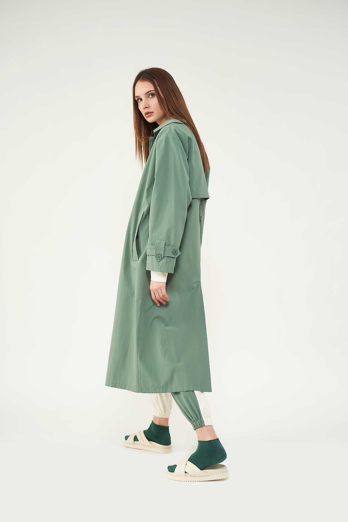 Trenchcoat Yeşil
