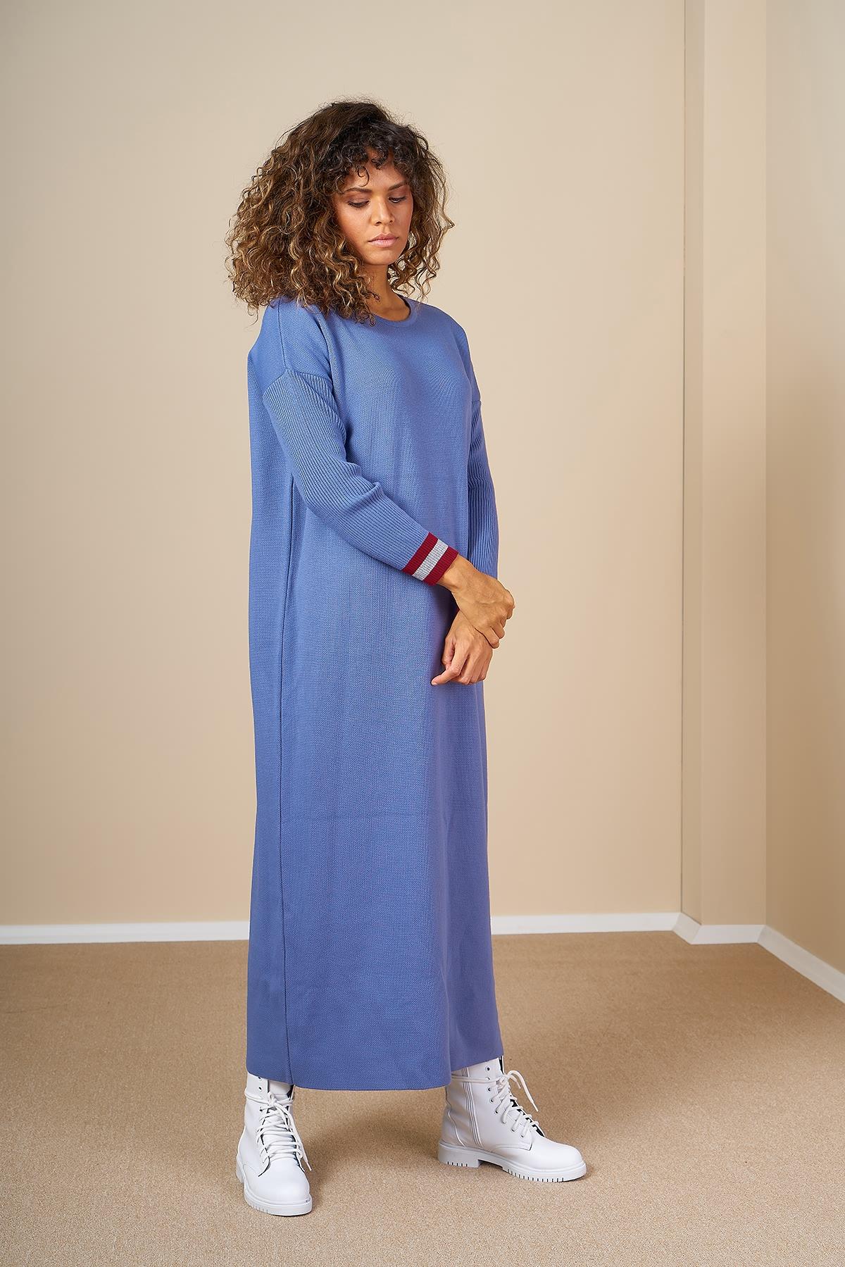Mevra - Triko Elbise İndigo