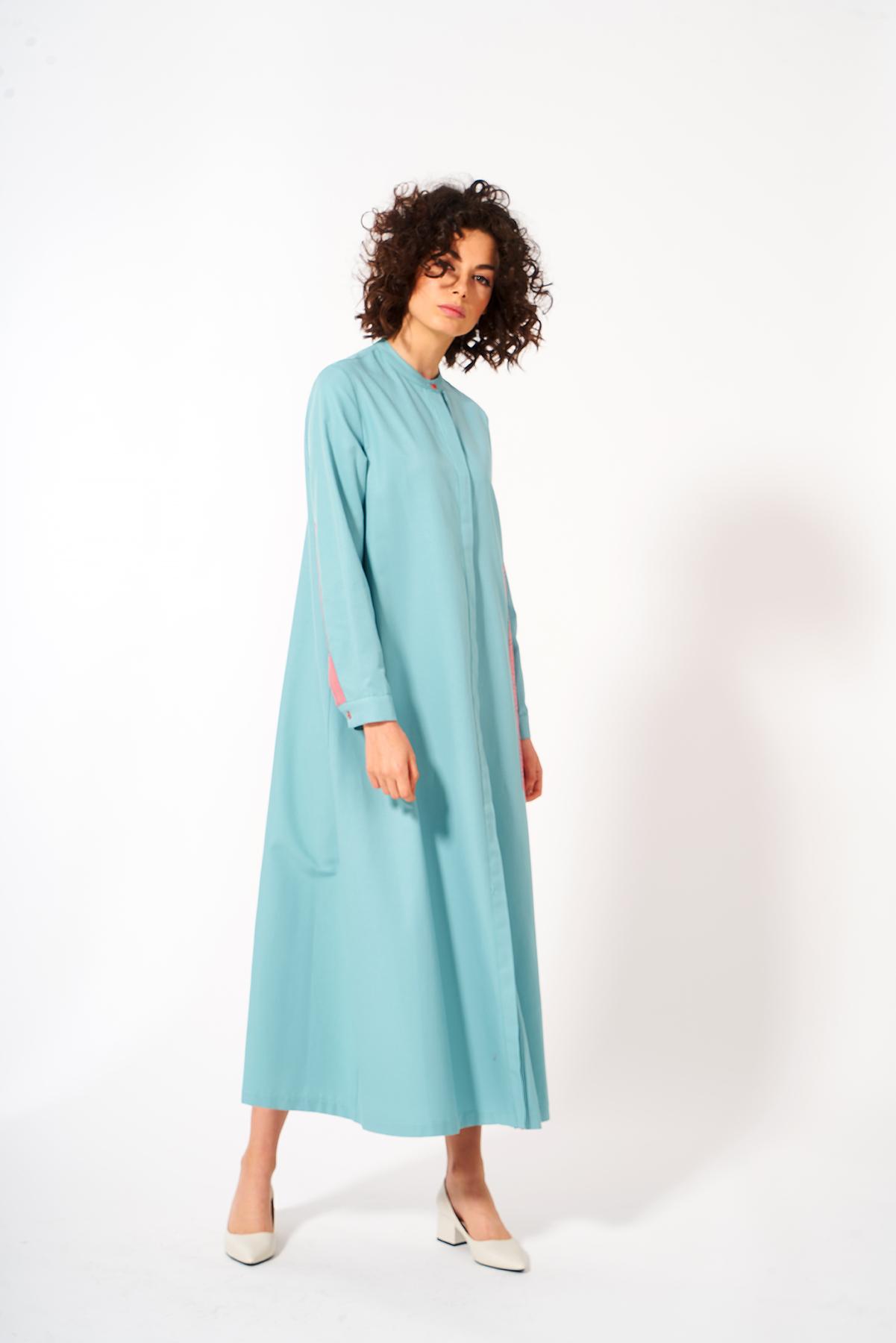 Mevra - Üçgen Detay Elbise Mint