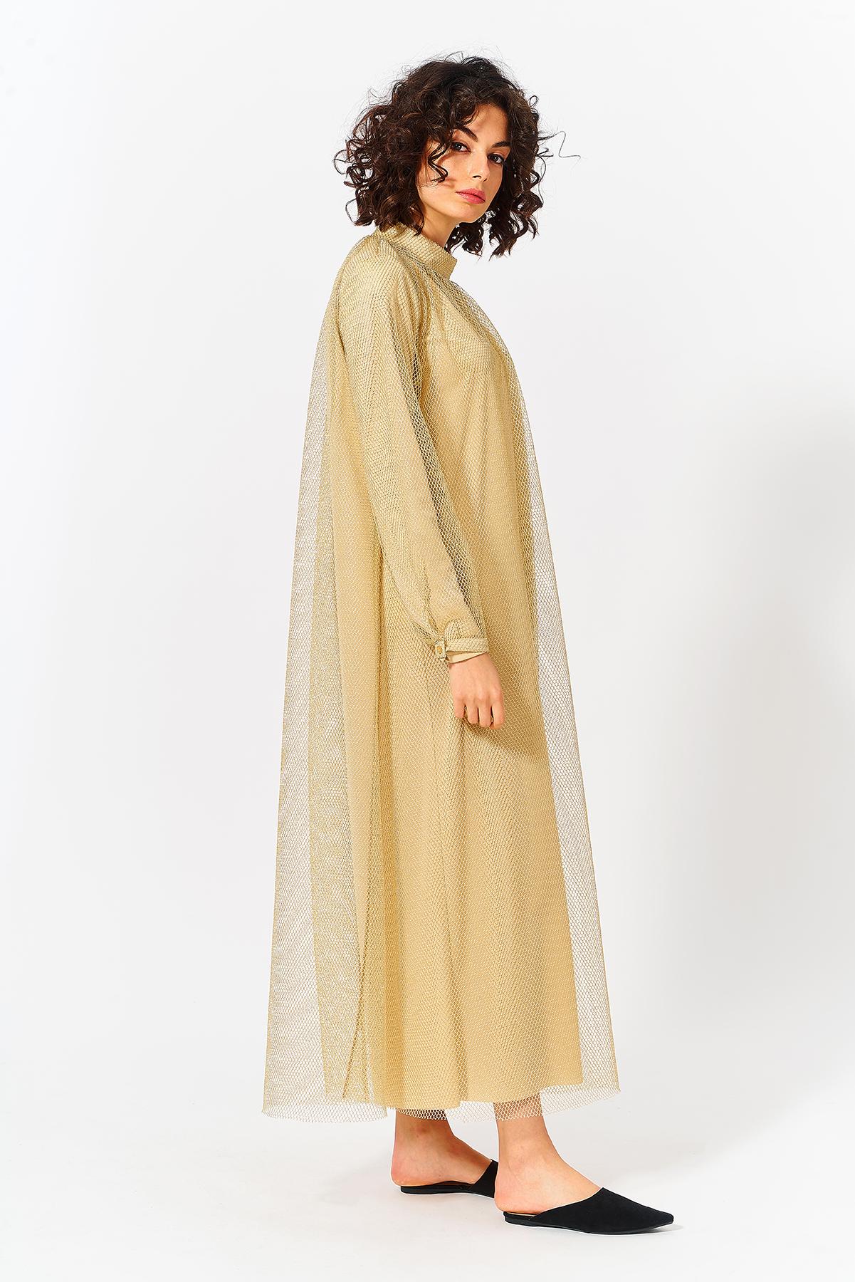 Mevra - Uzun Abiye Elbise Gold